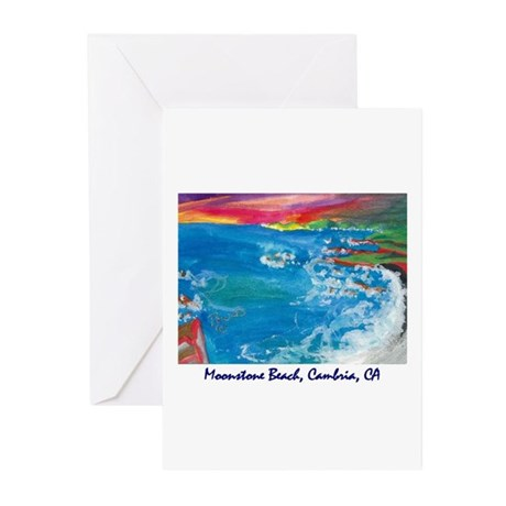 Moonstone Beach, Cambria CA Greeting Cards (Packag