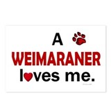 A Weimaraner Loves Me Postcards (Package of 8)
