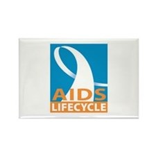 AIDS/Lifecycle Rectangle Magnet