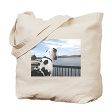 Lake Arrowhead Harlequin Great Dane Tote Bag