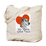 Luv My Merle Great Dane II Tote Bag