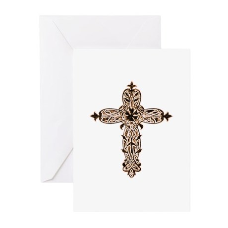 Victorian Cross Greeting Cards (Pk of 20)