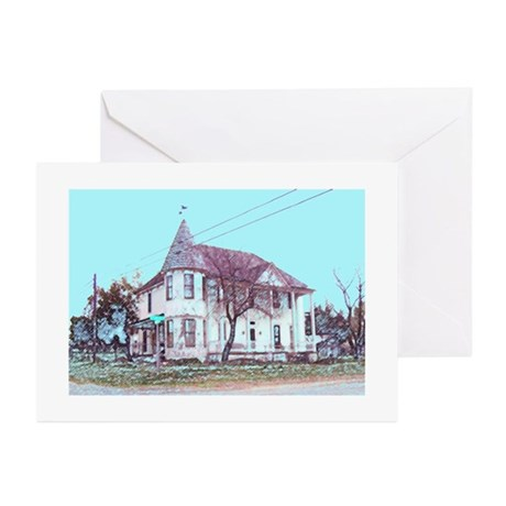 Old House on the Corner Greeting Cards (Pk of 20)