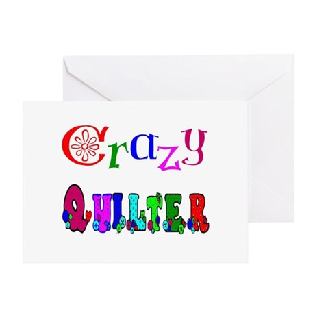 Crazy Quilter Greeting Card