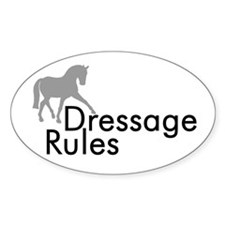 Dressage Rules Sidepass Oval Decal