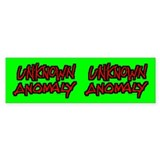UNKNOWN ANOMALY Bumper Bumper Sticker