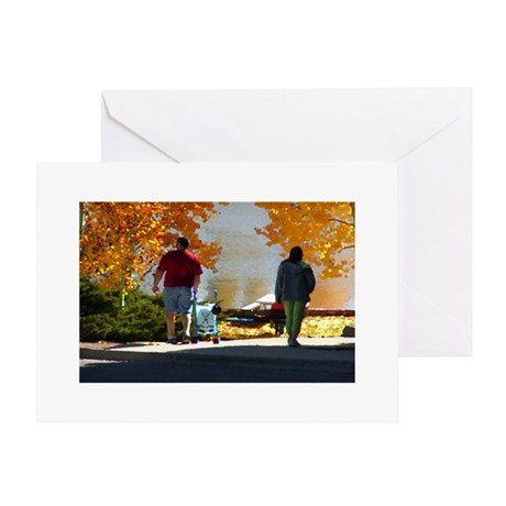 Early Autumn Stroll Greeting Card