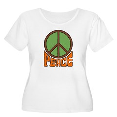 Peace Women's Plus Size Scoop Neck T-Shirt
