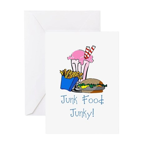 Junk Food Junky Greeting Card