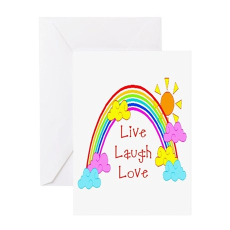 Rainbow Love Greeting Card