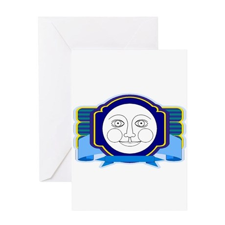 Blue Moon Face Greeting Card