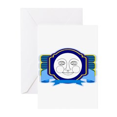 Blue Moon Face Greeting Cards (Pk of 10)