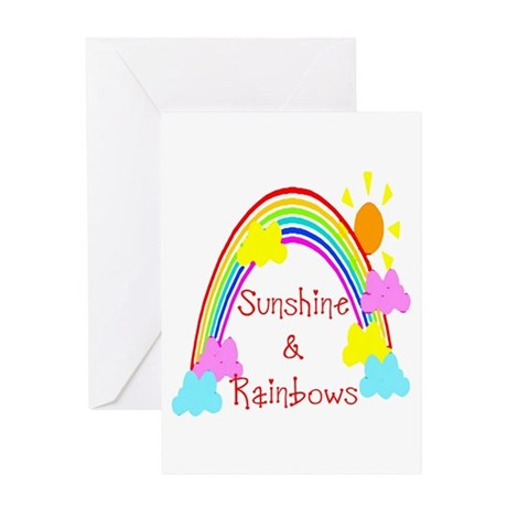 Sunshine Rainbows Greeting Card