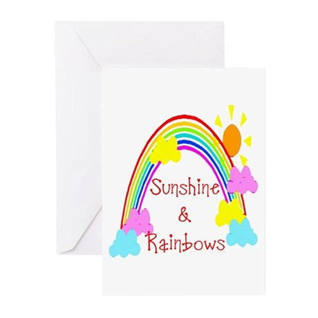 Sunshine Rainbows Greeting Cards (Pk of 10)