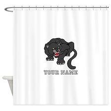 Black Panther (Custom) Shower Curtain