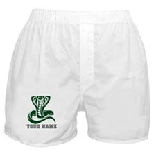 Green Cobra Snake (Custom) Boxer Shorts