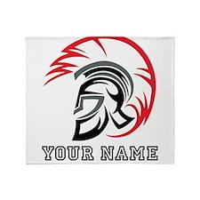 Roman Warrior Helmet (Custom) Throw Blanket