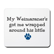 Wrapped Around His Paw (Weimaraner) Mousepad