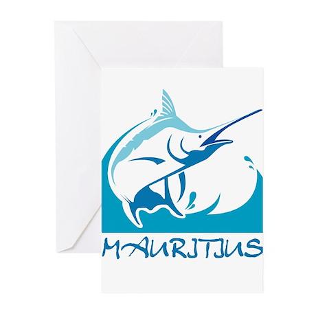 Jumping marlin Greeting Cards (Pk of 20)