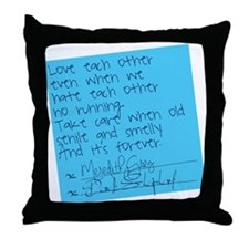 Grey's Anatomy: Post It Throw Pillow