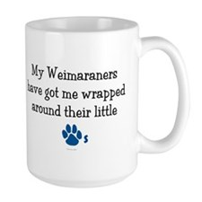 Wrapped Around Their Paws (Weimaraner) Mug