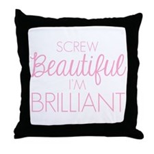 Grey's Anatomy: Screw Beautiful Throw Pillow