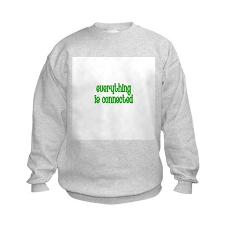 Everything is connected Kids Sweatshirt