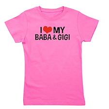 I Love My Baba and Gigi Girl's Tee