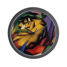 The Tiger by Franz Marc Wall Clock