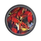The Fox by Franz Marc Wall Clock