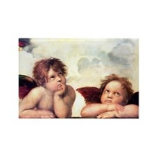 Chubby Cherubs Rectangle Magnet