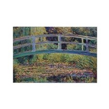 Water Lily Pond by Monet Rectangle Magnet