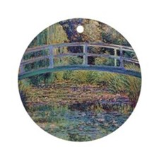 Water Lily Pond by Monet Ornament (Round)