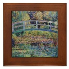 Water Lily Pond by Monet Framed Tile