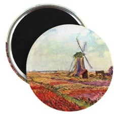 "Tulips of Holland by Monet 2.25"" Magnet (10 pack)"