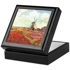 Tulips of Holland by Monet Trinket Box