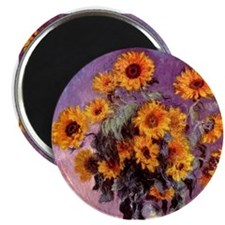 "Sunflowers by Monet 2.25"" Magnet (10 pack)"