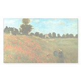 Poppies by Monet Rectangle Decal