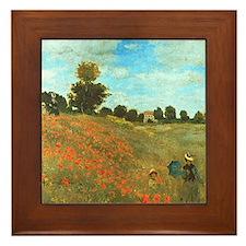 Poppies by Monet Framed Tile