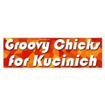 Groovy Chicks for Kucinich bumper sticker
