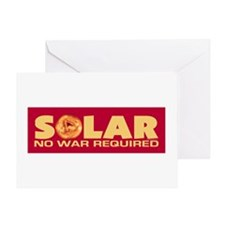 Solar - No War Required Greeting Card