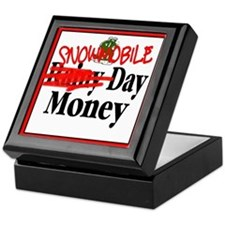 Snowmobile Day Money Keepsake Box