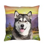 Malamute Meadow Everyday Pillow