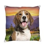 Beagle Meadow Everyday Pillow