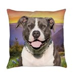 Pit Bull Meadow Everyday Pillow
