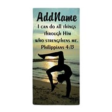 GYMNAST BIBLE VERSE Beach Towel