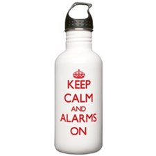 Keep Calm and Alarms O Water Bottle