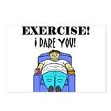 EXERCISE! I DARE YOU! Postcards (Package of 8)