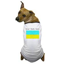 Ukraine Flag (Distressed) Dog T-Shirt