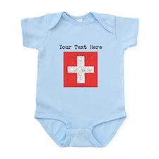 Switzerland Flag (Distressed) Body Suit